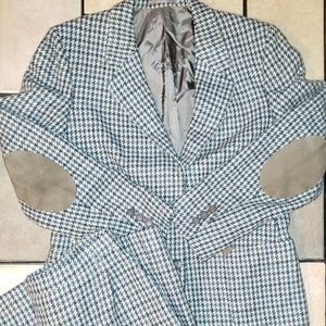 Vintage Burberry Wool Blazer Skirt Set size 12